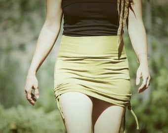 Sugaree Cinched Mini Skirt~Organic Clothing~