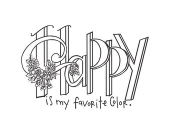 Spellbinders - Stamps - Tammy Tutterow - Happy is My Favorite Color