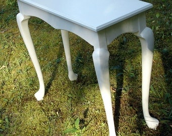 "Hall, Sofa, Foyer, Entry Table, 13-1/2"" x 34"" Cabriole Legs, Dune White"