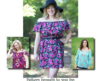Mama Daphne Top, Dress & Maxi PDF Sewing Pattern Sizes
