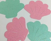 RESERVED listing for Daisy Glitter Seashell Cricut die cuts
