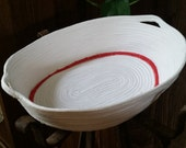 Oval rope bowl container