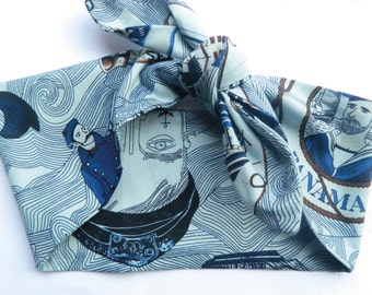 Nautical 50's headscarf rockabilly