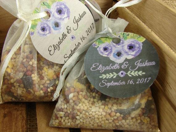 DIY Personalized Birdseed Wedding Favors In Organza Bags 20