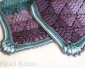 Crochet Pattern Vintage Vineyard Blanket, Afghan, Throw,
