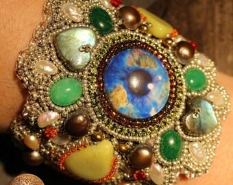 Treasures - bead embroidered bracelet