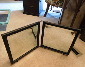 Antique Victorian Double Beveled Mirror