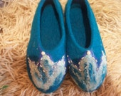 Slippers felted Slippers Wool slippers House shoes Warm shoes, Gift for women