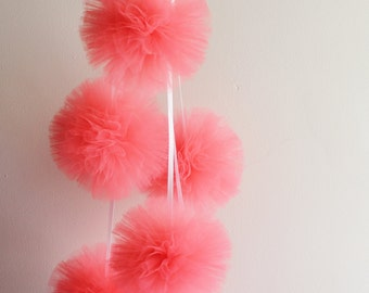 Tulle Pom Poms,  Nursery Decor, Nursery Mobile, Birthday Decor, Baby Shower Decor, Wedding Decor, Party Decor