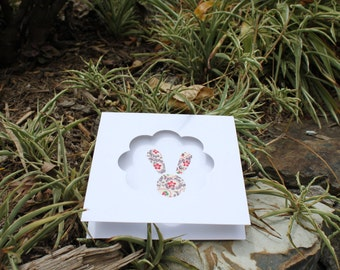 bunny card , birthday card, greetings card