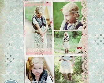 ON SALE Collage & Blog Board - 16x20 in and 900x1125 px, psd files - INSTANT Download