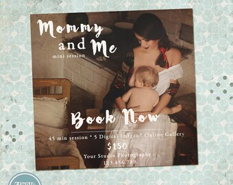 Mommy and Me Mini Session Template, Marketing Board- INSTANT DOWNLOAD