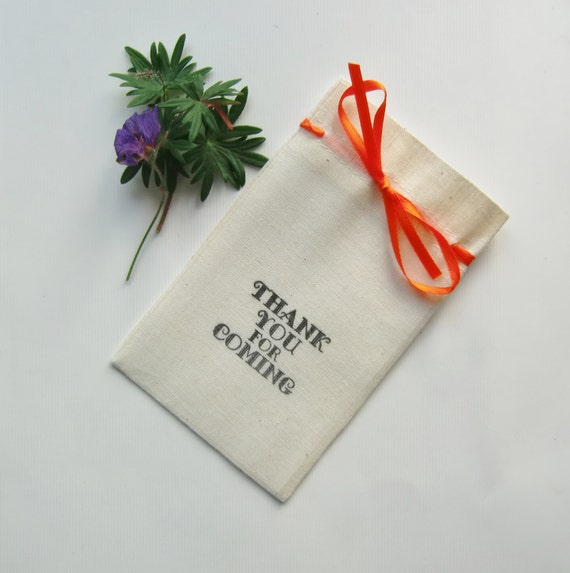 Thank You Wedding Gift Bags : Thank You For Coming-Wedding Favor Bags-Favour Bags-5x3-Muslin Bags ...