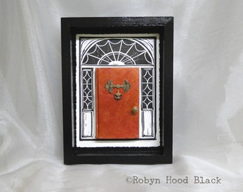Altered Book as Door Collage 9 X 12 - Divine Love