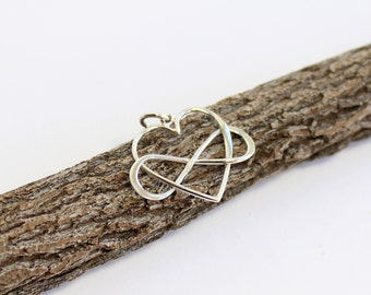Sterling Silver Large Version Infinity Heart Charm...  1 pendant
