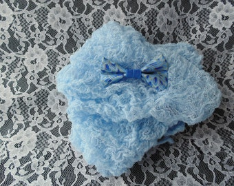 Blue Cheesecloth   Two Tone Blue  Bow Tie ..Baby Boy Cheesecloth and Bow tie ...   Newborn  Cheesecloth  Photography Wrap