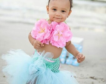 Mermaid Tutu | Mermaid Birthday Outfit | Mermaid Birthday Dress | Mermaid Costume | Baby Mermaid | Mermaid Party | Mermaid Prop