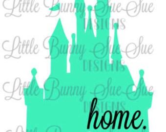 Cinderella Castle SVG PNG DXF Cutting Machine File