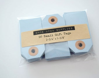 Light Blue Gift Tags / Pastel Blue Blank Gift Tags / Hang Tags Pack of 50