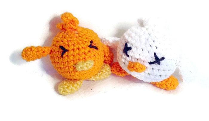 Amigurumi duck cat toy made with organic catnip by ...