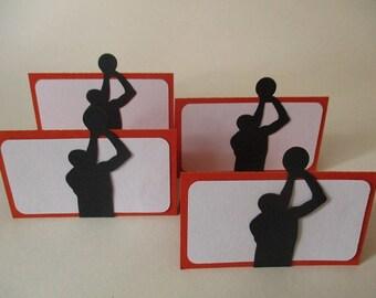 12 Basketball Theme Treat Bag Toppers  - Basketball Favors - Kids Exchange - DIY Bag Topper - Birthday Party Decoration Orange & Black