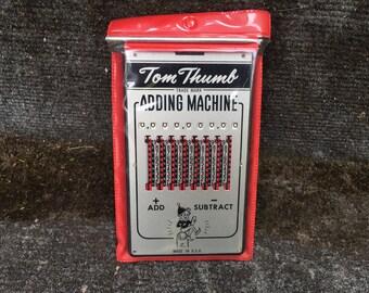 Mid Century Tom Thumb Adding Machine Instructions Stylus Case Made In USA