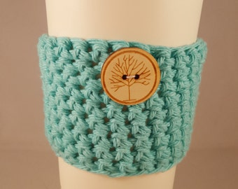 Coffee Cup Cozy (with or without tree button)