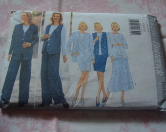 Butterick 4266 Misses Petite Jacket Vest Top  Skirt and Pants Sewing Pattern - UNCUT -  Size Xs S M