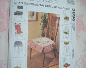 McCalls 3896 Home Decorating Chair Essentials Sewing Pattern - UNCUT -