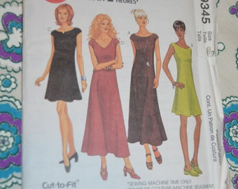 McCalls 9345 Misses Dress in Two Lengths Sewing Pattern - UNCUT Size 14 16 18