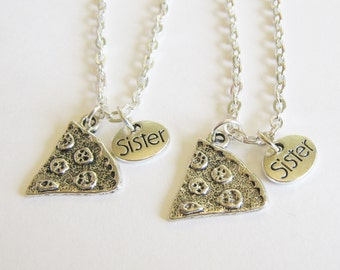 2 Pizza Sisters Bff Necklaces