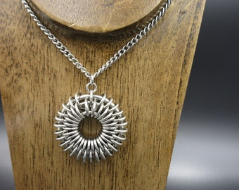 Stainless steel Star Burst Chainmaille Necklace