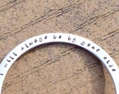 Personalized Dog Memorial Jewelry, I Will Always Be By Your Side, Stainless Steel Bangle Bracelet