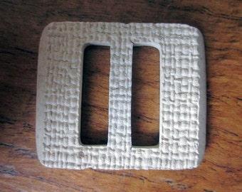 1930′s Cream Textured Bakelite Buckle - Vintage Buckle - 1930s Buckle - Vintage Belt Buckle - Cream Buckle - Bakelite Buckle