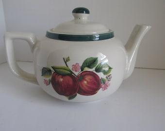 Apple Teapot Apple Pattern Kitchen Decor Apple Kitchen Decor