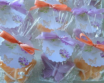 10 Butterfly Soap Favors, Set of 10 Complete with Packaging, Showers, Special Occasions, Spring Parties, Weddings, Mother's Day
