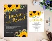 Rustic sunflower wedding ...