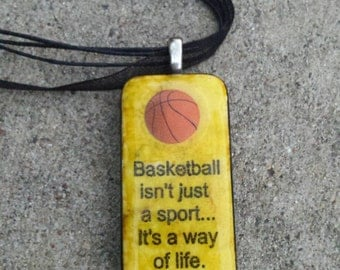 Basketball domino necklace