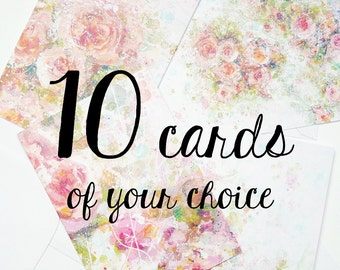 10 greeting cards of your choice with envelopes