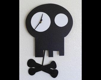 Bonesy Pendulum Art Wall Clock Steampunk Sculpture