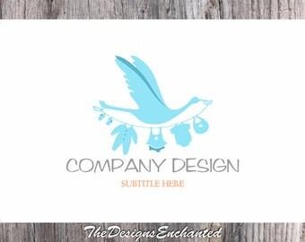 Logo Design OOAK Logo Premade Logo and Watermark Baby Logo Bird Logo Children Logo Kids Logo Cute Logo Custom Logo Business Logo Designer