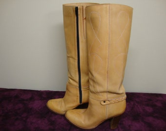 Women's Tall Leather Buskens Boots Size 9M
