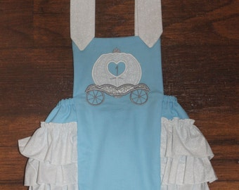 Cinderella Birthday Ruffle Butt Romper Sunsuit