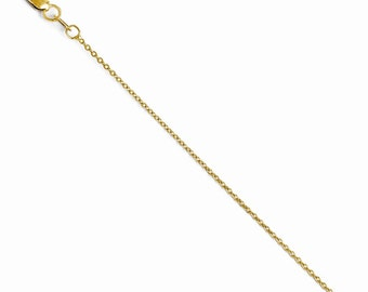 16 inch  14k Yellow Gold Flat Cable