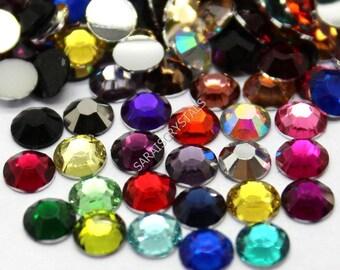 500 pcs Crystal Flatbacks Mixed Colors SS12  SS16 or SS20