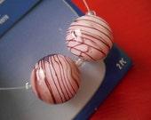 Purple Swirl Focal Beads Glass Beads