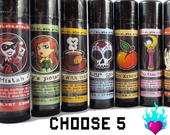 Geek Lip Balm Set - Choose 5