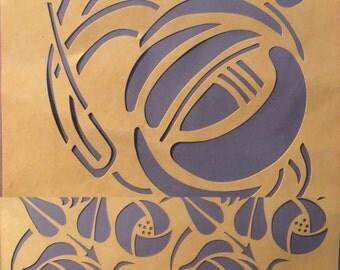 Set of two Charles Rennie Mackintosh wall stencils