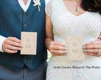 "Wedding Vow Books - Set of 2 - Personalized and Customized - 3.5"" X 5"" Jotter Size"