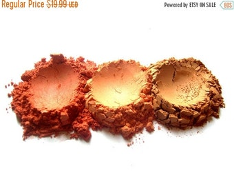 60% OFF - WARM SUNSET Mineral Blush Collection - Natural Vegan Mineral Makeup